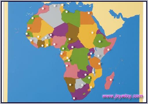Montessori Africa Puzzle Map