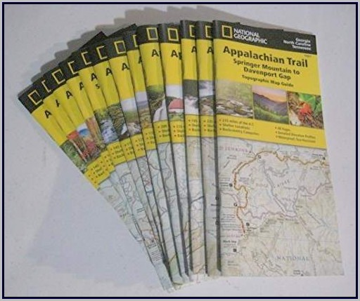National Geographic Appalachian Trail Map