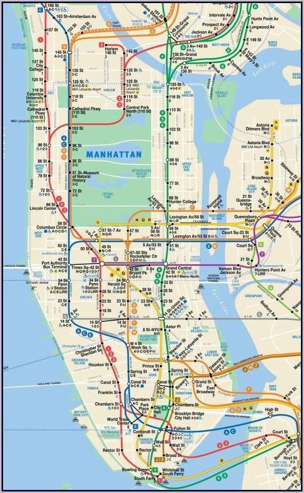 Nyc Subway Map 2016