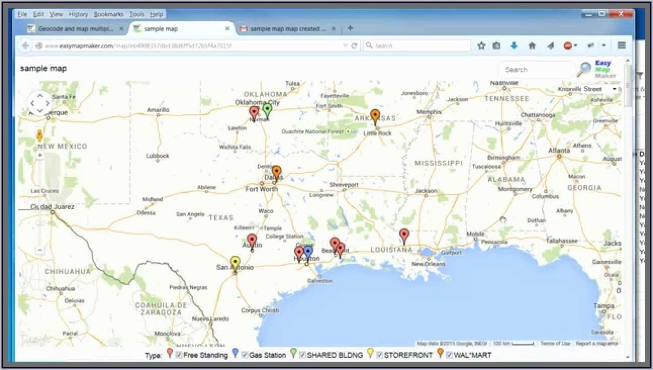 Plot Addresses On Map From Excel Free