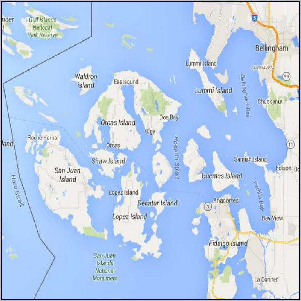 Puget Sound Islands Map