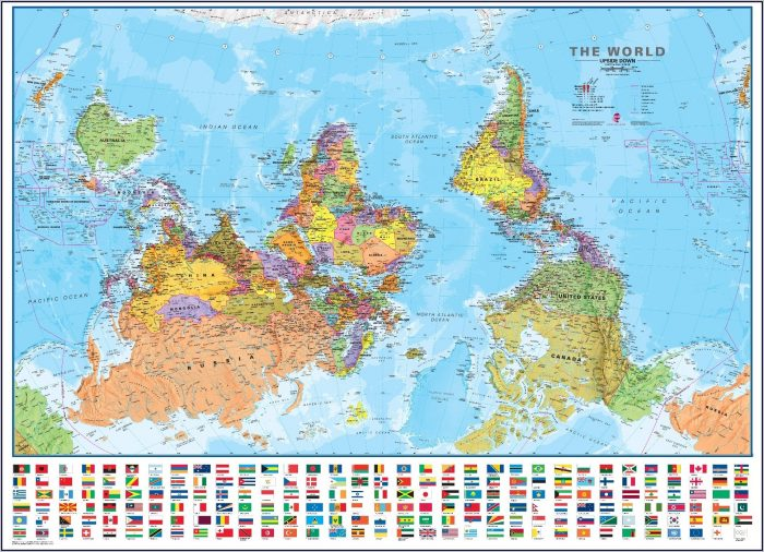 Real World Map Upside Down