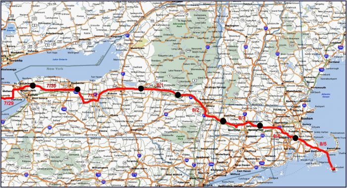 Road Map Of Northeast Usa