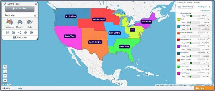 Sales Territory Map Maker
