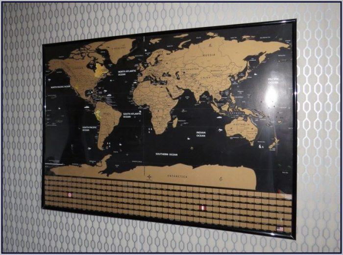 Scratch Map Frame Ideas