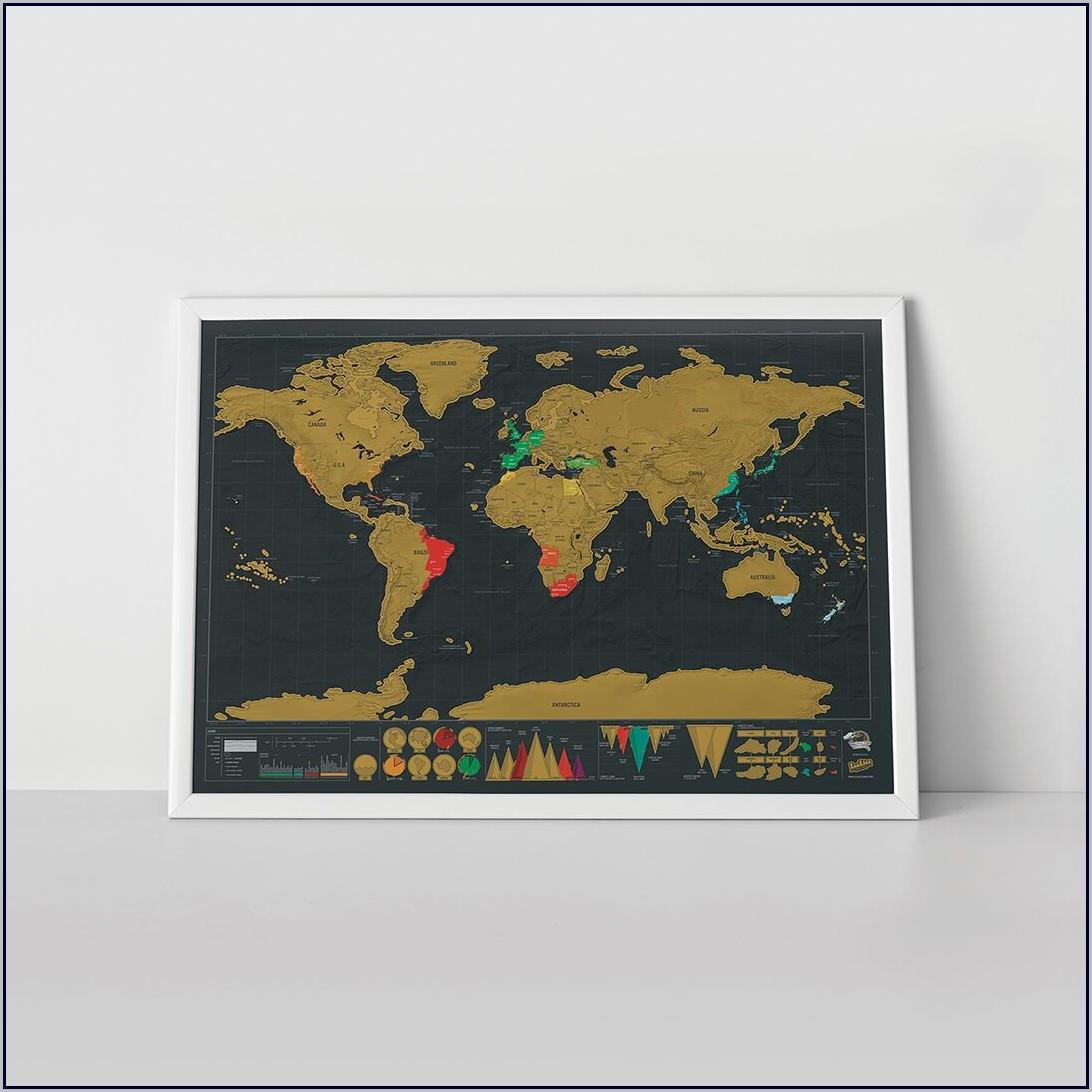 Scratch Map Frame Size