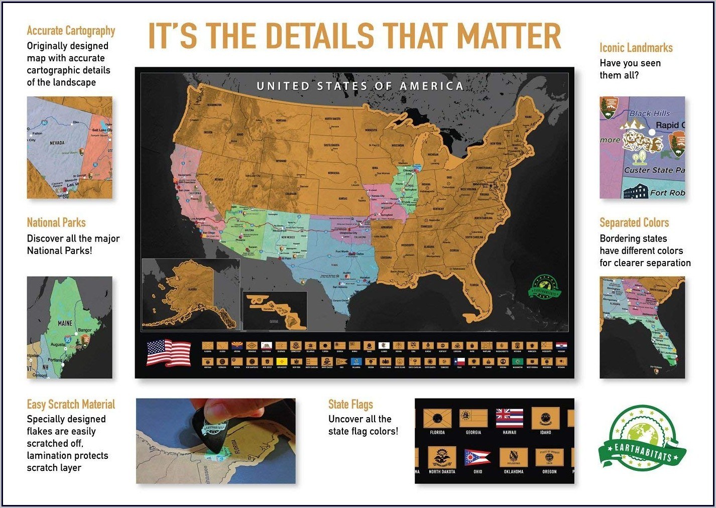 Scratch Off State Map