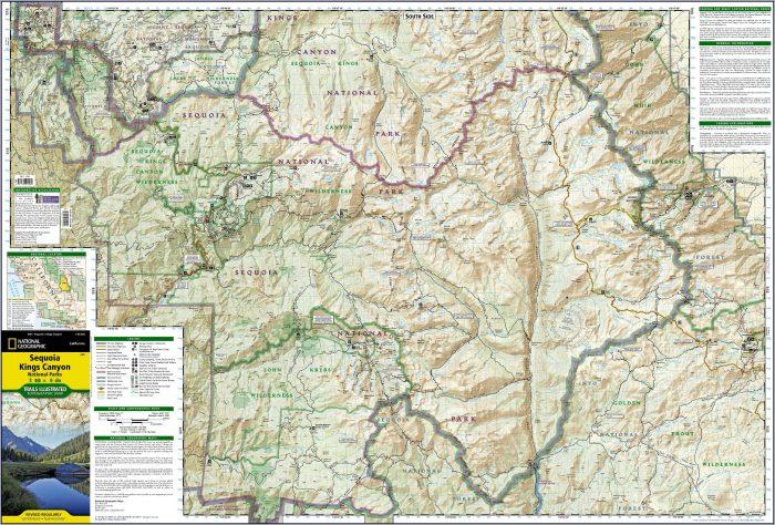 Sequoia Kings Canyon Map