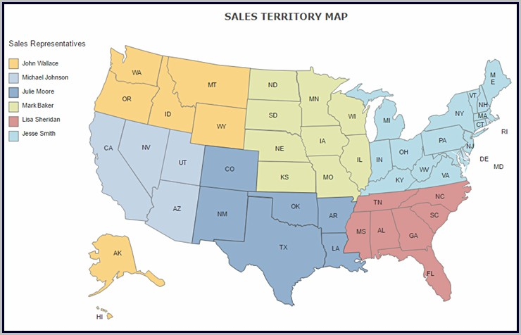 Us Sales Territory Map