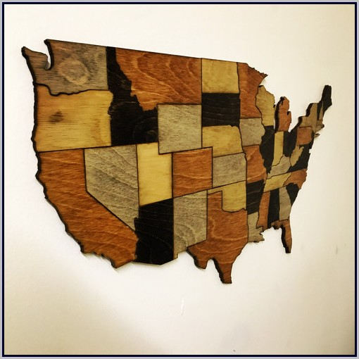 Usa Map Wall Decor