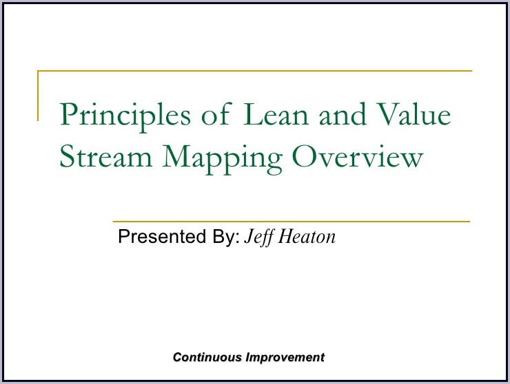 Value Stream Mapping Ppt Slideshare