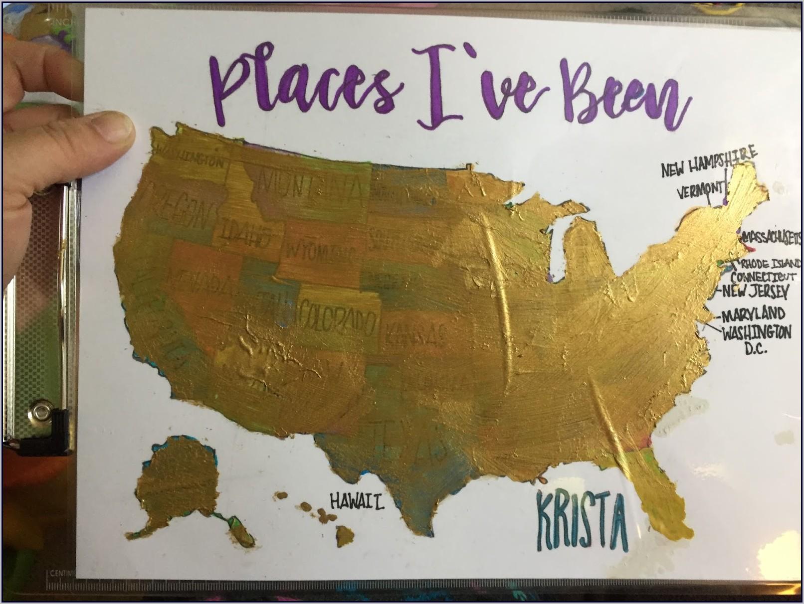 Watercolor Scratch Off Map Diy