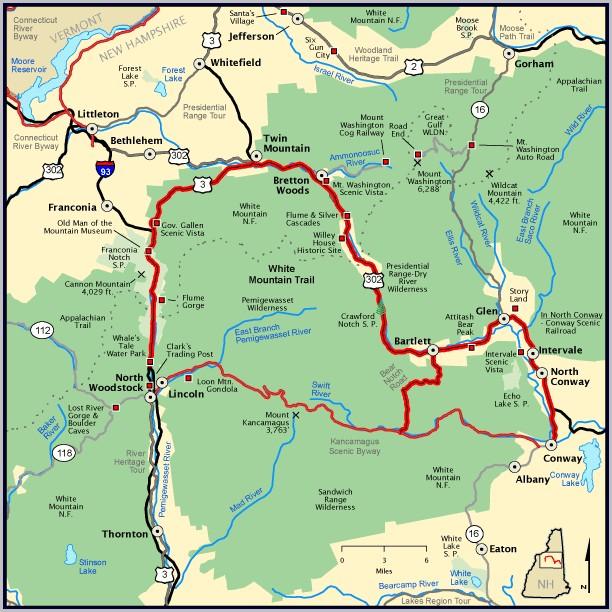 White Mountains Hiking Map