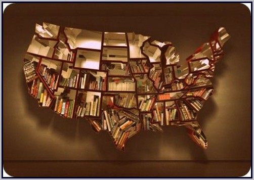 World Map Bookshelf