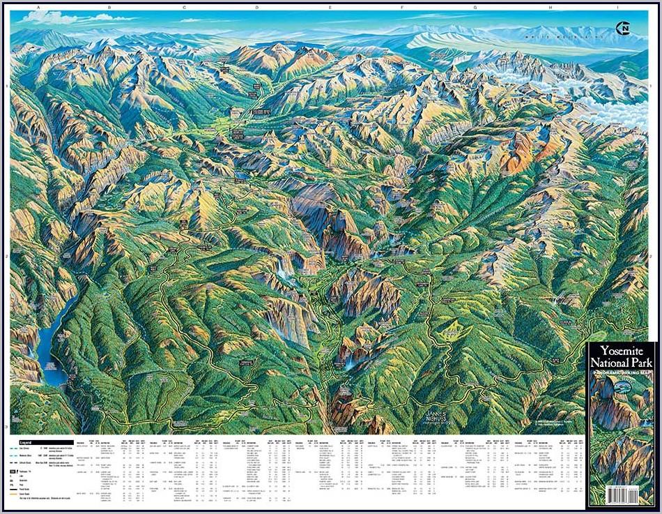 Yosemite Trail Maps