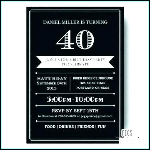 60th Birthday Invitation Template Male