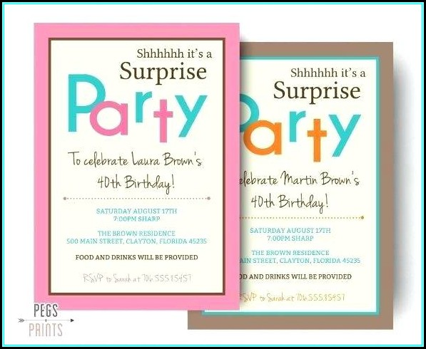 60th Birthday Invitation Templates For Word