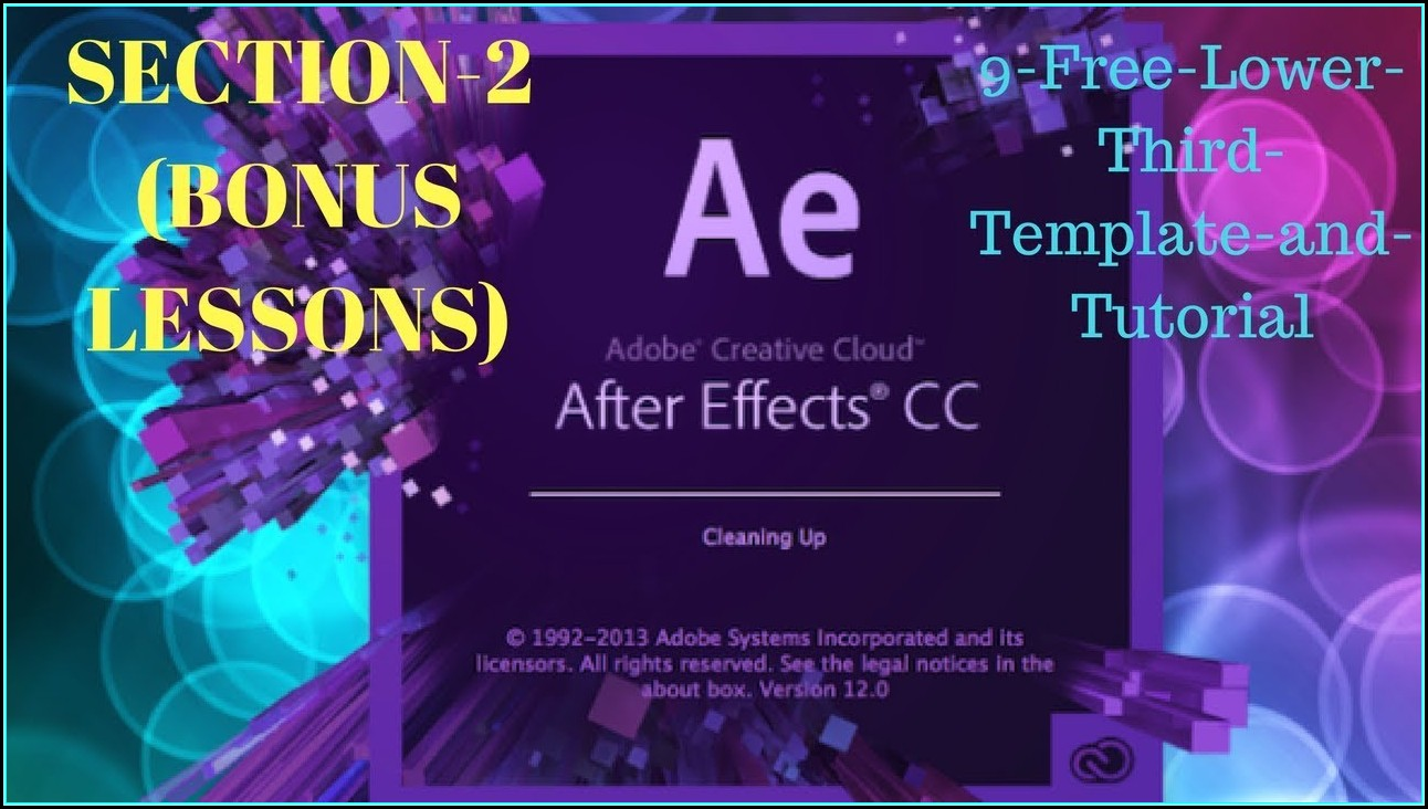 Adobe After Effects Lower Third Templates Free
