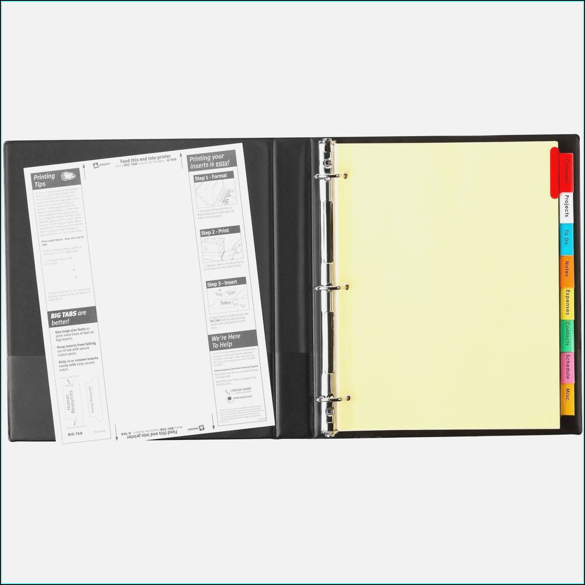 avery 8 tab template 11186
