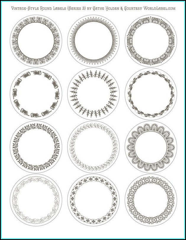 Avery Round Label Template 6450