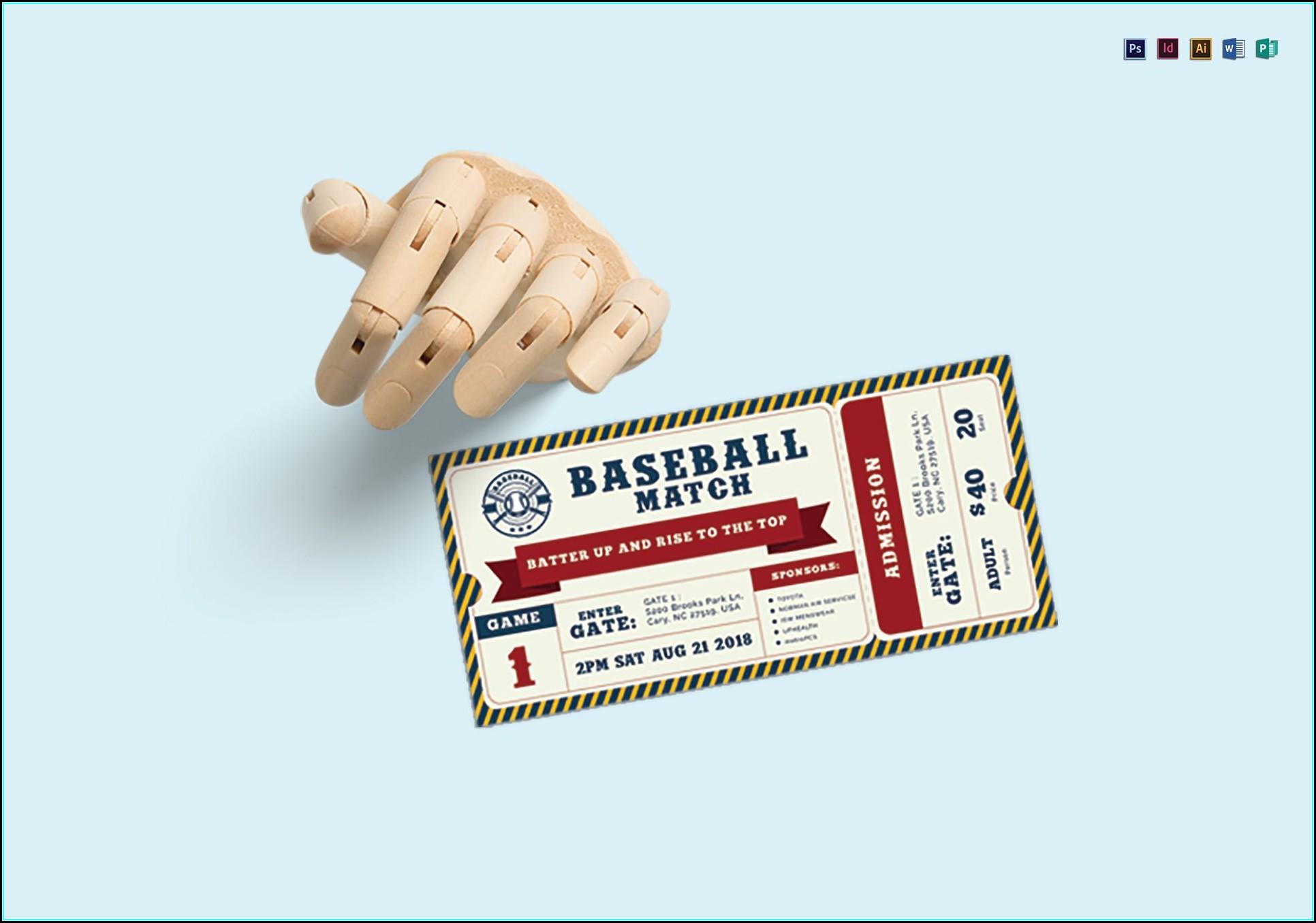 Baseball Ticket Template Psd