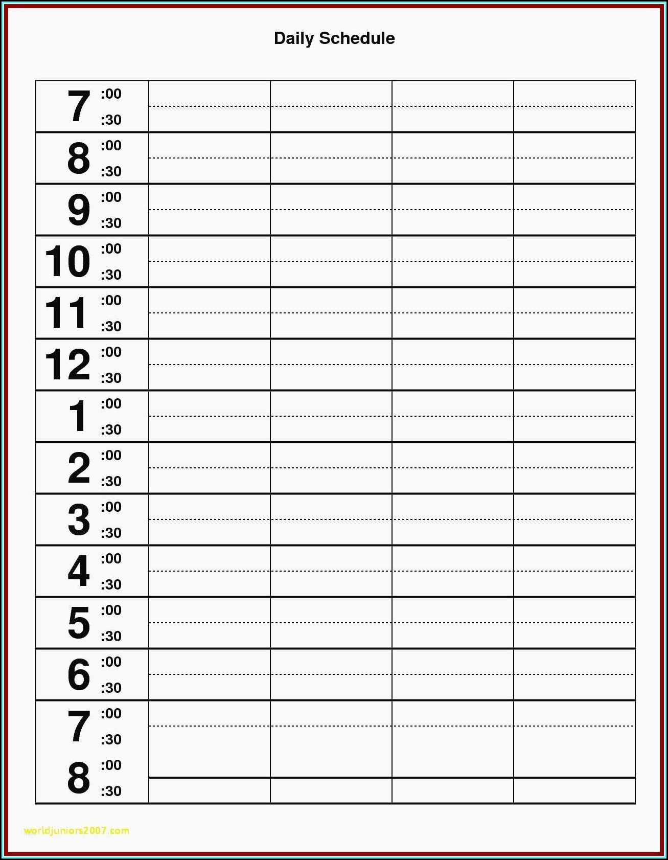 Best Monthly Employee Schedule Template Excel