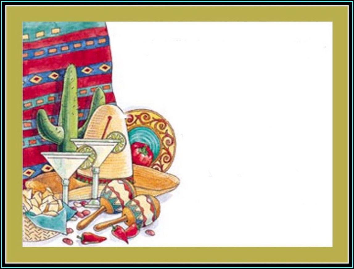 Blank Fiesta Invitation Template