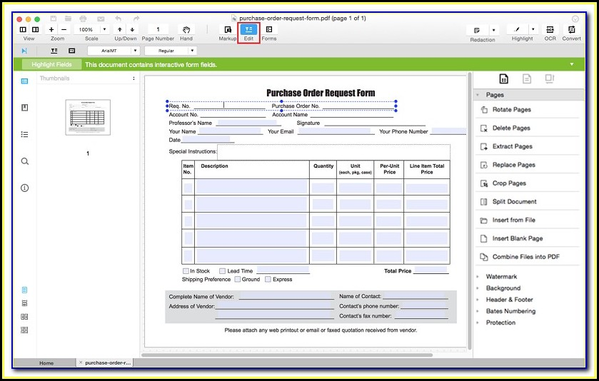 Creating A Form Fillable Pdf