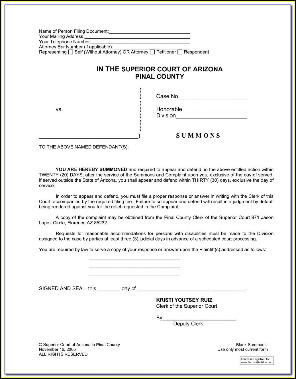 Dallas County Divorce Filing