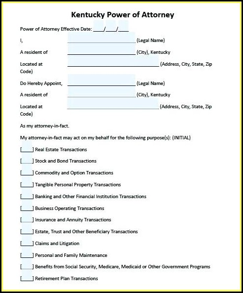 Financial Poa Form