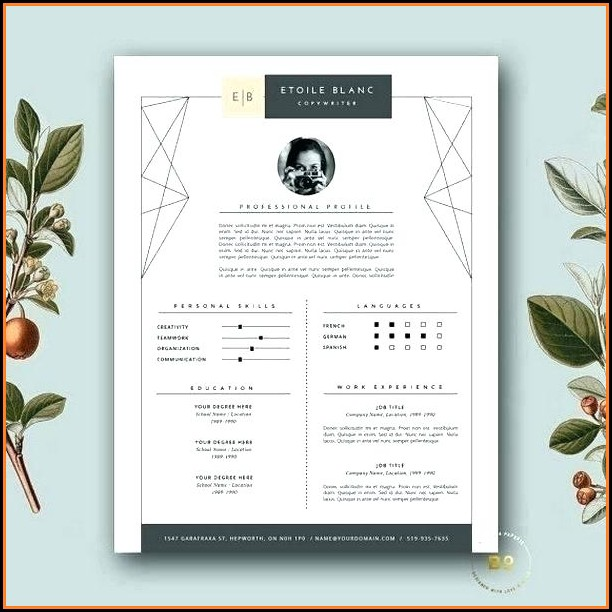 Fashion Resume Templates Free