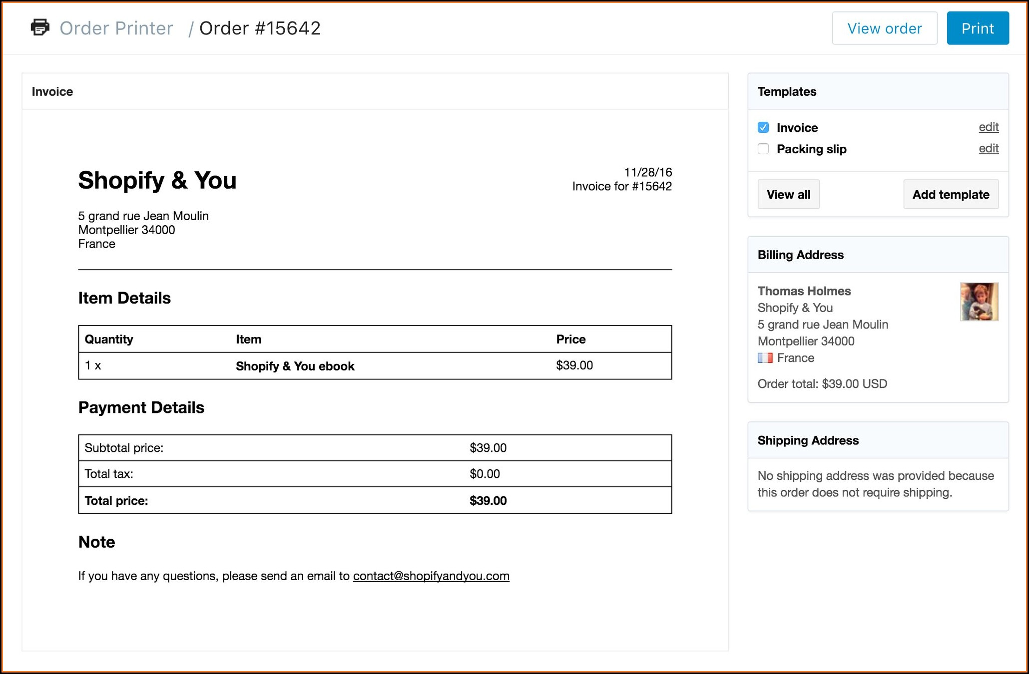 Filemaker Invoice Layout
