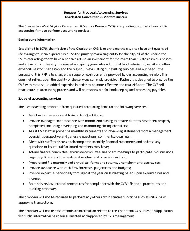 Free Bookkeeping Proposal Template