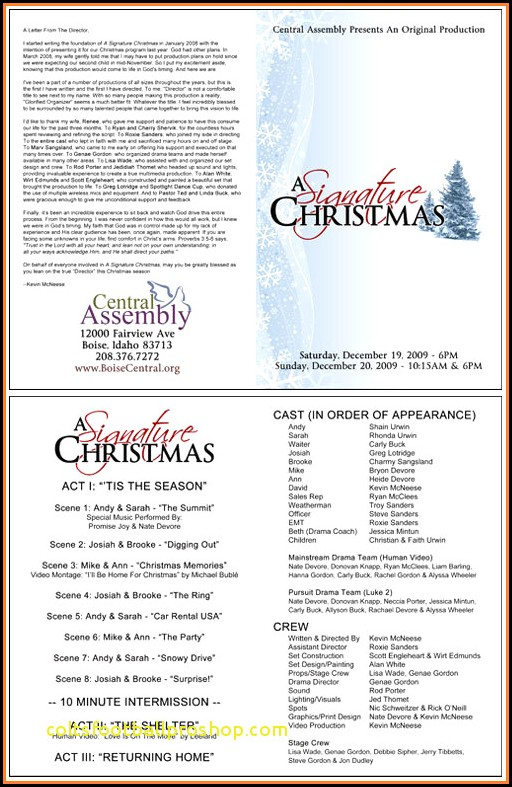 Free Christmas Programs Templates For Church