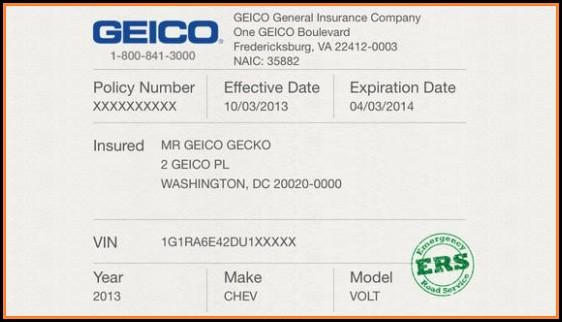 Free Fake Car Insurance Template Download