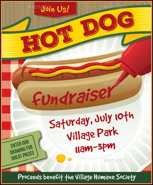 Free Hot Dog Fundraiser Flyer Templates