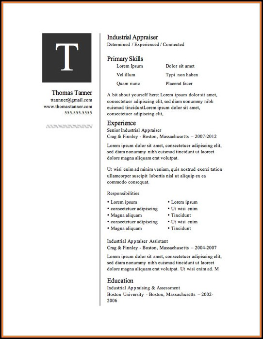 Free Microsoft Resume Templates Download