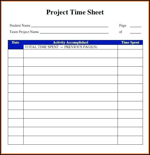 Free Online Printable Timesheet Template