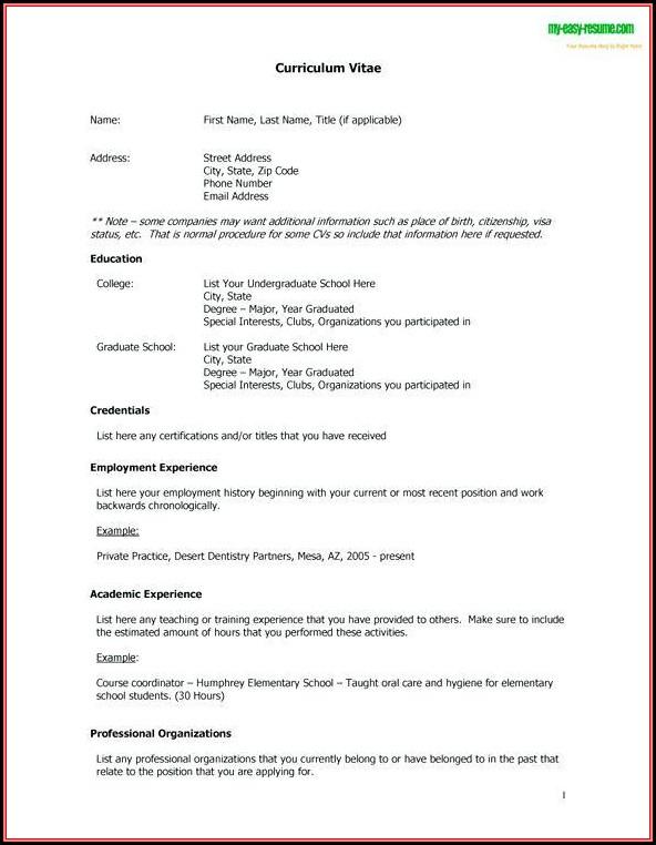 Free Resume Builder Online No Cost