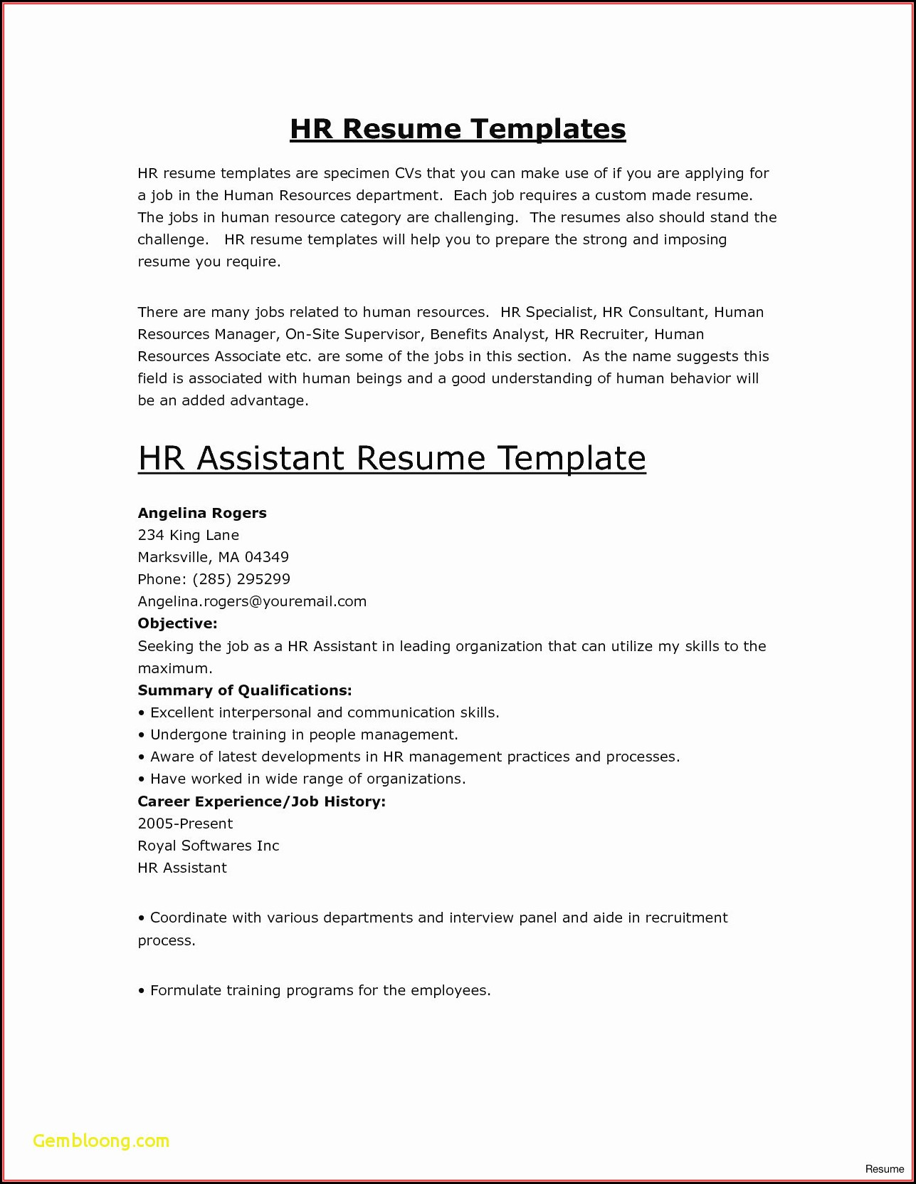 Free Resume Builder Software Download