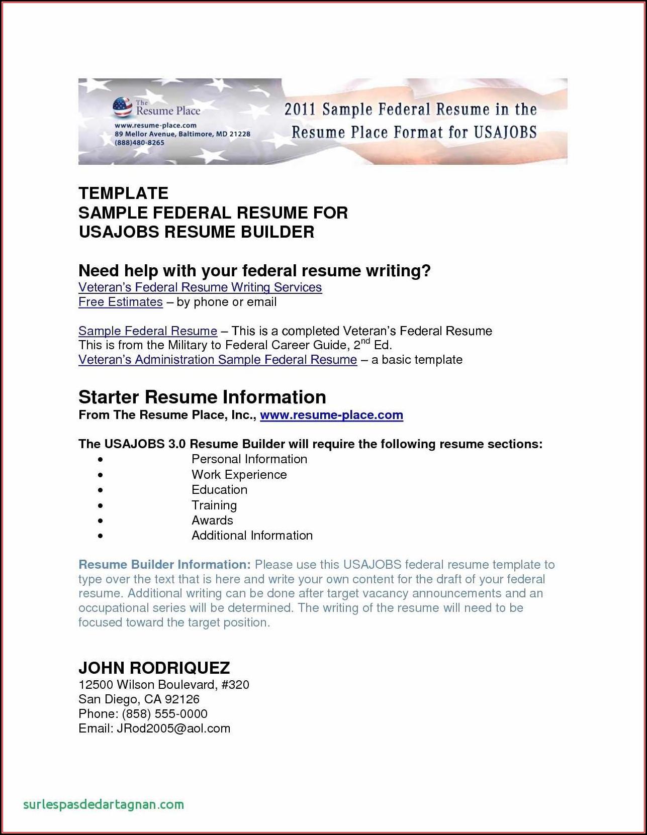 Free Resume Builder Word Document