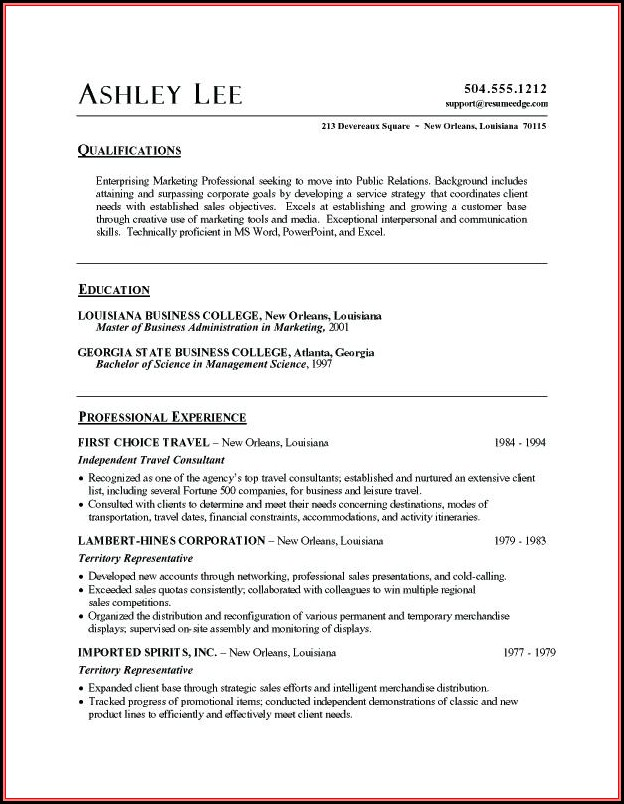 Free Resume Word Document