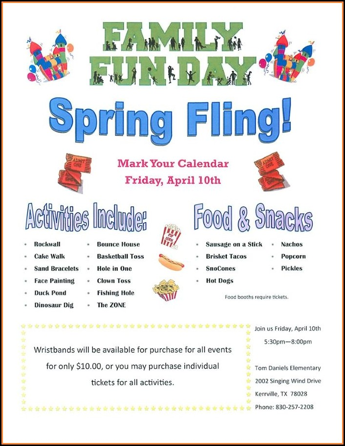 Free School Fundraiser Flyer Templates