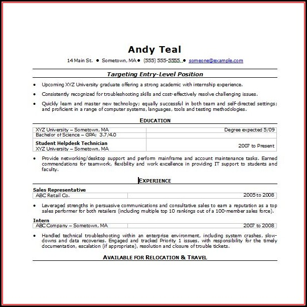 Free Template For Resume Microsoft Word