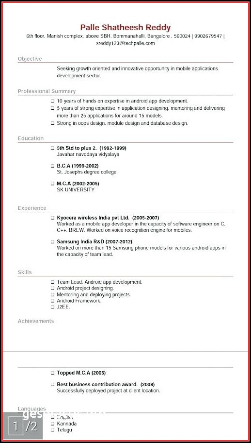 Google Free Resume Builder
