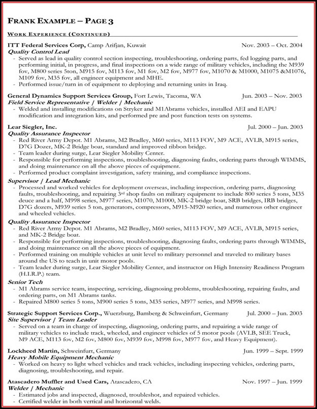 Government Resume Writing