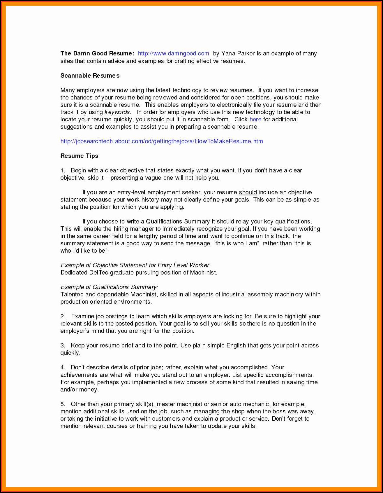 How To Make Resume For Job In Canada