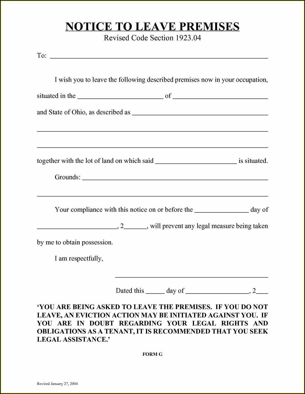 Florida Eviction Notice Form