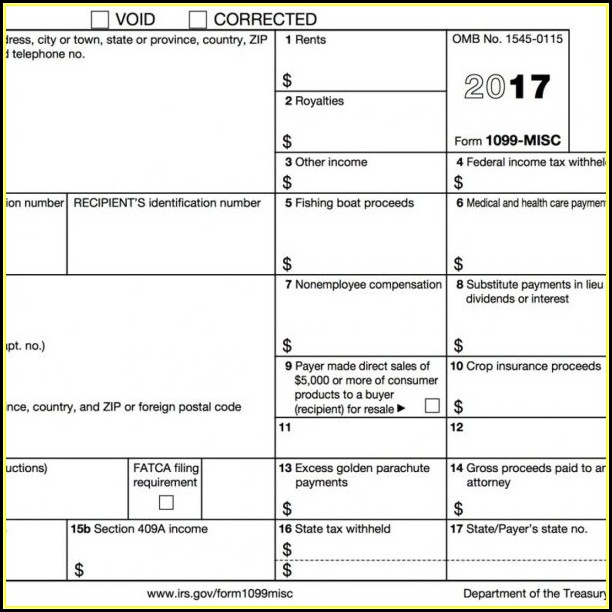 Free 1099 Misc Form 2018