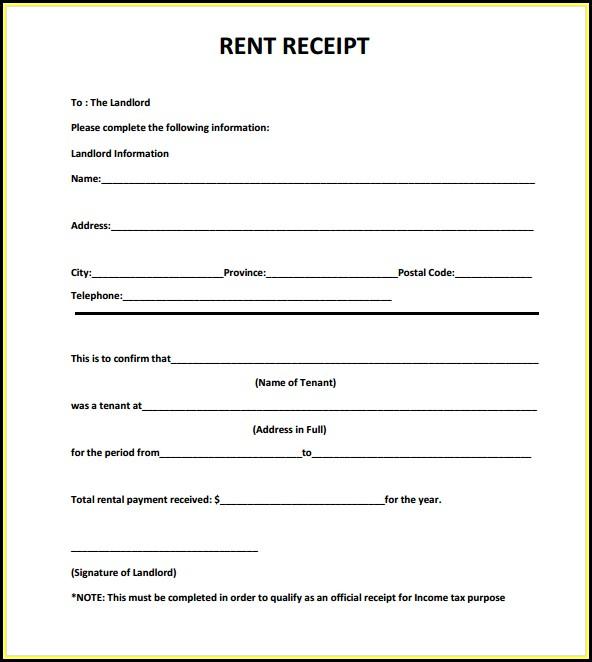 Free Download Rent Receipt Format